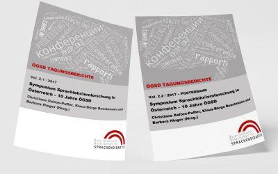 Christiane Dalton-Puffer, Klaus-Börge Boeckmann & Barbara Hinger (Hrsg.) (2017): Symposium Sprachlehr/lernforschung in Österreich. 10 Jahre ÖGSD. 19. Mai 2017, Universität Wien. ÖGSD Tagungsberichte. Bd. 2.1. und Bd. 2.2. Graz: ÖGSD.
